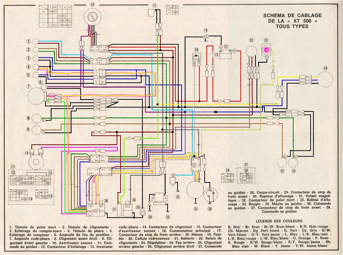 schema_complet_avant_1979 Yamaha As Wiring Diagram on suzuki quadrunner 160 parts diagram, yamaha steering diagram, yamaha wiring code, yamaha solenoid diagram, yamaha ignition diagram, yamaha motor diagram, yamaha schematics,